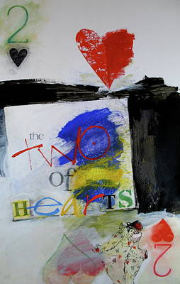 Mixed Media - Two Of Hearts 37-52 by Cliff Spohn