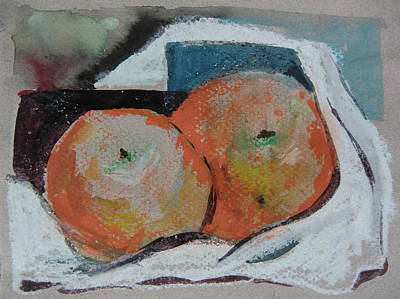 Two Oranges Original by Mindy Newman