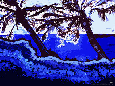Painting - Two Palms - Tropical by Forartsake Studio