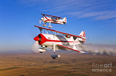 Photograph - Two Pitts Model 12 Aircraft In Flight by Scott Germain