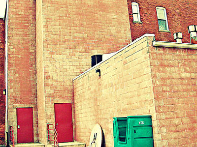 Art Print featuring the photograph Two Red Doors - Two Little Windows by MJ Olsen