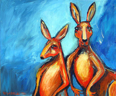 Painting - Two Roos by Leanne Wilkes