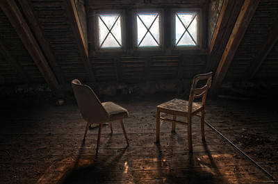 Two Seats Three Windows Art Print by Nathan Wright