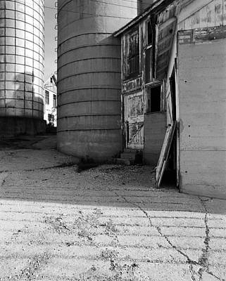 Two Silos Wern Farm Original by Jan W Faul