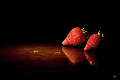 Photograph - Two Strawberries by Endre Balogh