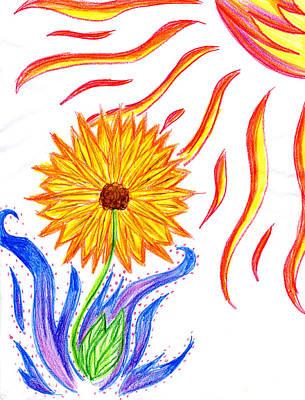 Two Suns Art Print by Tessa Hunt-Woodland