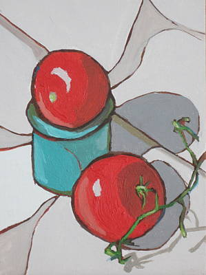 Painting - Two Tomatoes by Sandy Tracey