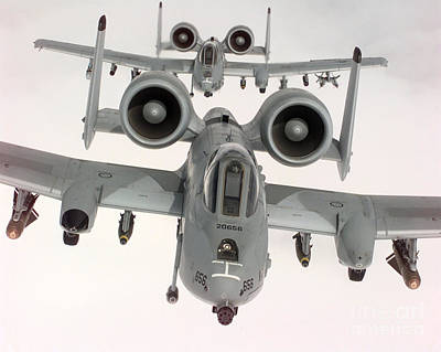 Abstract Male Faces - Two U.s. Air Force A-10a Warthogs by Stocktrek Images