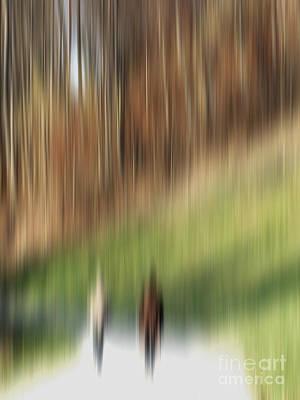 Herbstfarben Photograph - Two Walkers by Karin Ubeleis-Jones