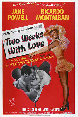 Two Weeks With Love, Insert Ricardo Art Print by Everett