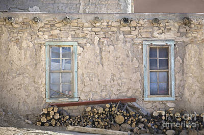 Window Bench Photograph - Two Windows by Glennis Siverson