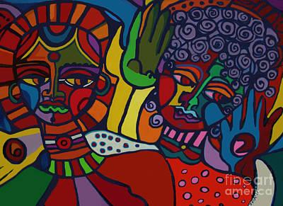 Pastel - Two Women by Lydia L Kramer
