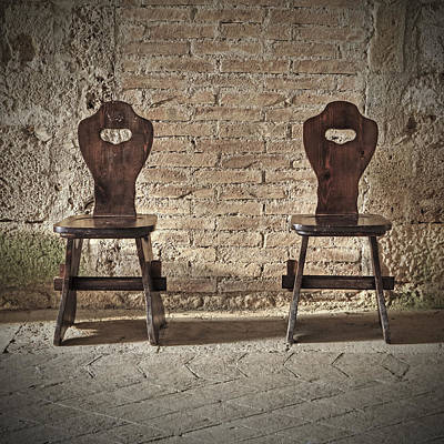 Two Wooden Chairs Art Print by Joana Kruse