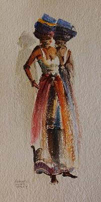 Painting - Two Xhosa Women by Harold Kimmel
