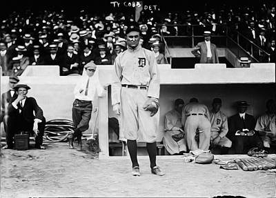 Detroit Tigers Photograph - Ty Cobb by Bill Cannon