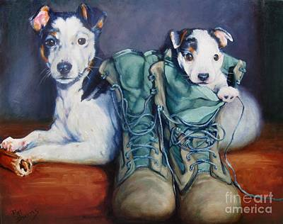 Painting - Tybee And Scout by Pat Burns