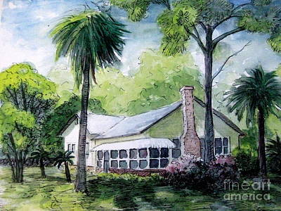 Painting - Tybee Island Home by Gretchen Allen