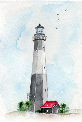 Tybee Light Art Print by Doris Blessington