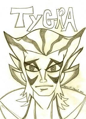 Thundercats Drawing - Tygra by Shayna  Keach