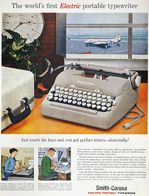 Photograph - Typewriter Ad, 1957 by Granger