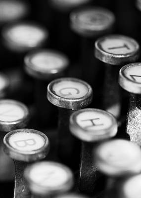 Typewriter Keys Art Print by Falko Follert