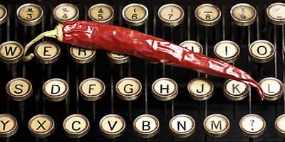 Typewriter Keys Xt Art Print by Falko Follert