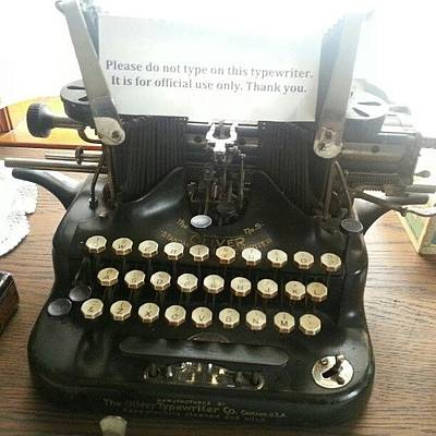 Typewriter Photograph - #typewriter #old #oldfashioned #ancient by Leticia Moreno