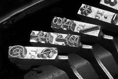 Typewriter Keys Photograph - Typewriter Symbols by Tom Mc Nemar