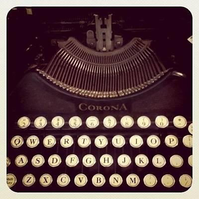 Typewriter Photograph - #typewriter by Vicki Leggett