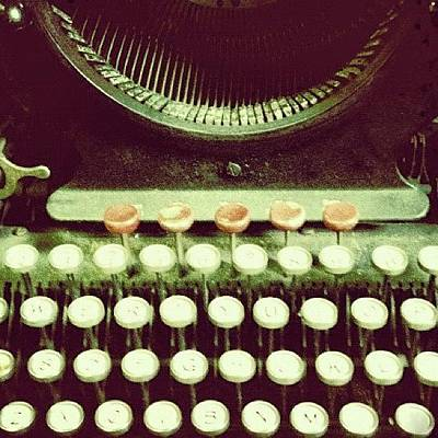 Typewriter Photograph - #typewriter #vintage #classic by Donny Bajohr