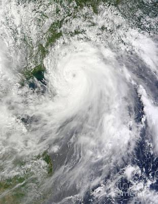 Typhoon Chanthu Art Print