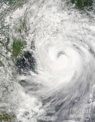 Typhoon Prapiroon Print by Stocktrek Images