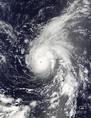 Typhoon Vamco In The Pacific Ocean Art Print by Stocktrek Images