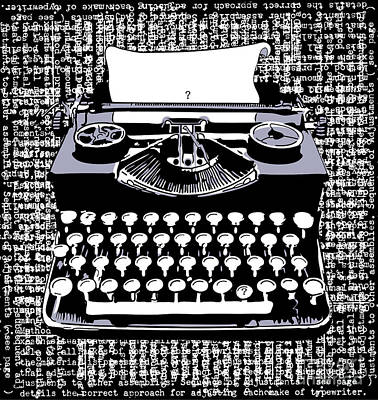 Antique Typewriter Digital Art - Typography by Laura Brightwood