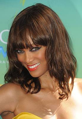 Gibson Amphitheatre Photograph - Tyra Banks At Arrivals For 2011 Teen by Everett