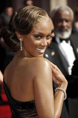 Hair Bun Photograph - Tyra Banks At Arrivals For 58th Annual by Everett
