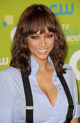 Bestofredcarpet Photograph - Tyra Banks At Arrivals For Cw Network by Everett