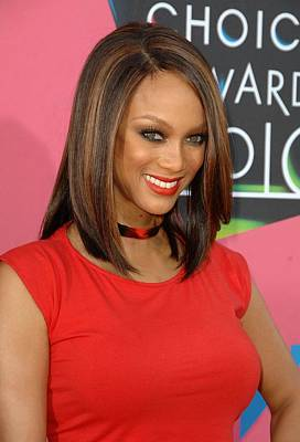 Tyra Banks At Arrivals For Nickelodeons Art Print by Everett