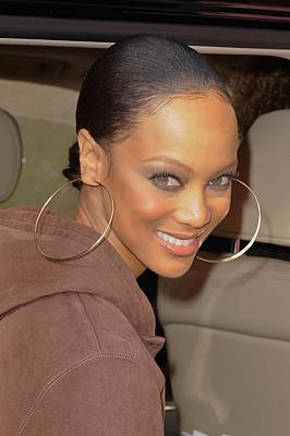 Tyra Photograph - Tyra Banks, Leaves The Wendy Williams by Everett