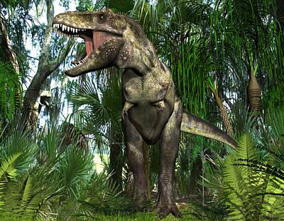 Digital Art - Tyrannosaur Dinosaur by Walter Colvin