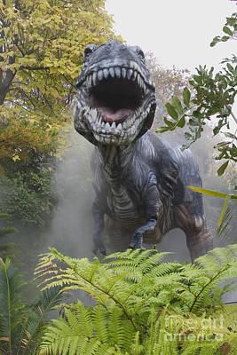 Tyrannosaurus Art Print by David Davis and Photo Researchers