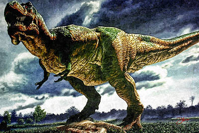 Jurassic Park Digital Art - Tyrannosaurus Rex by Dancin Artworks