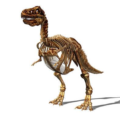 Tyrannosaurus Rex Dinosaur Art Print by Friedrich Saurer