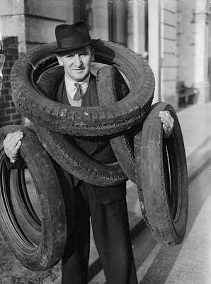 Tyred Out Art Print by Fox Photos