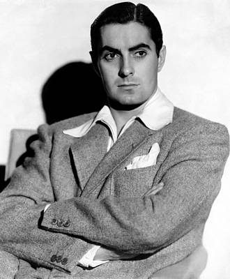 Tyrone Power In The 1940s Art Print by Everett