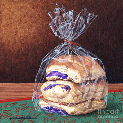 Painting - Ube Buns by Lynette Cook