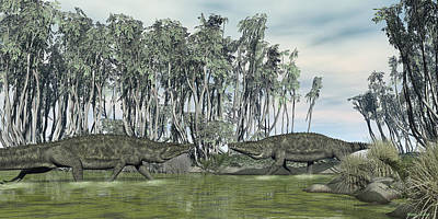 Digital Art - Uberabasuchus Terrificus by Walter Colvin