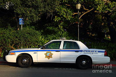 Uc Berkeley Campus Police Car  . 7d10178 Art Print by Wingsdomain Art and Photography