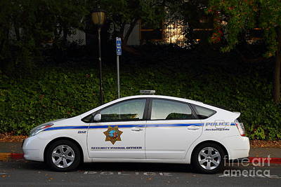 Uc Berkeley Campus Police Car  . 7d10181 Art Print by Wingsdomain Art and Photography