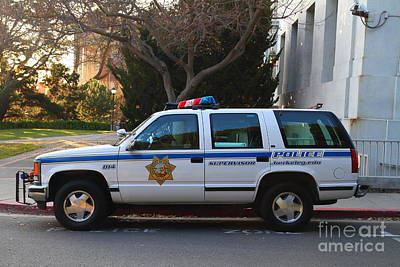 Police Van Photograph - Uc Berkeley Campus Police Suv  . 7d10182 by Wingsdomain Art and Photography